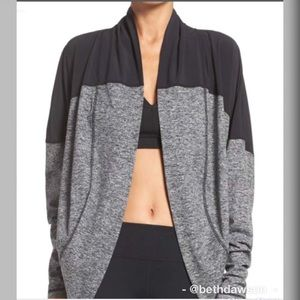 Zella Grey and Black Cocoon Jacket Size M